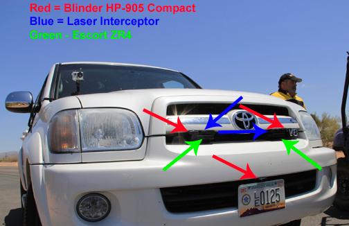 Police Radar Jammer >> Blinder HP-905 Compact Laser Jammer Test