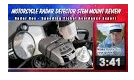 motorcycle radar detector stem mount reveiw