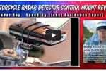 Techmount motorcycle radar detector control mount