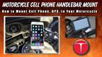 motorcycle cell phone handlebar mount